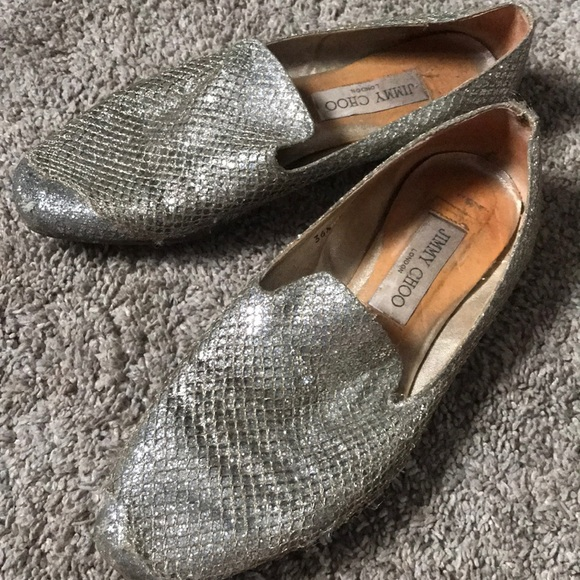 Jimmy Choo Shoes - Jimmy choo silver flats